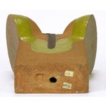 Image of Tomiya Matsuda Chartreuse Glaze and Terra Cotta Abstract Sculpture