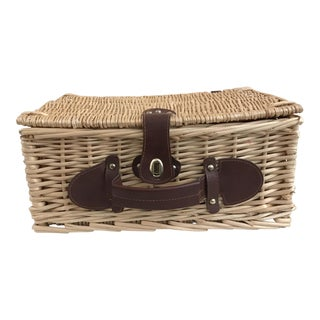 Wicker Lined Picnic Basket