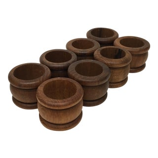 Teak Napkin Holders - Set of 6