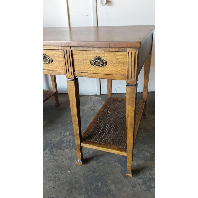 Mid Century Two Tier Desk Table - Image 4 of 5