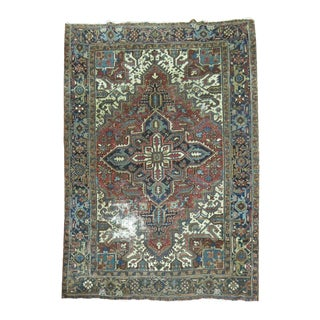 Distressed Persian Heriz Rug - 6'6'' X 8'9''