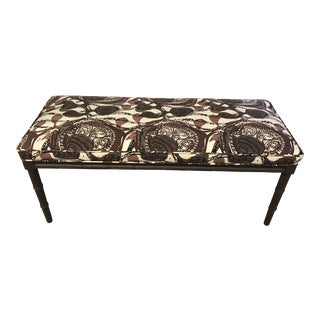 Vintage Painted Faux Bamboo Bench