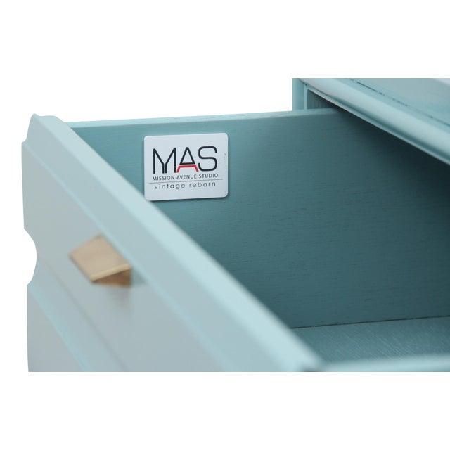 Mid-Century Blue Dresser - Image 4 of 7