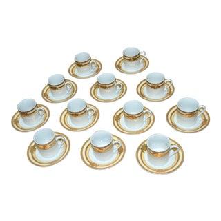 Espresso Cup & Saucers - Set of 12