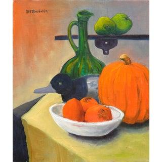 Pumpkin & Persimmons Still Life