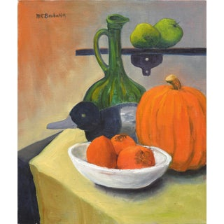 Pumpkin & Persimmons Still Life