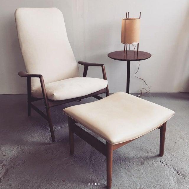 Image of Alf Svensson Danish Reclining Lounge Chair & Ottoman