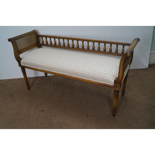 Vintage French Louis XVI Style Window Bench - Image 3 of 10