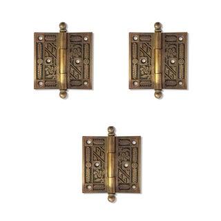 Antique Art Deco Solid Brass Door Hinges