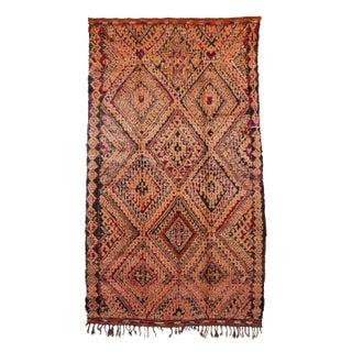 "Vintage Zemmour Moroccan Rug - 6'6"" X 11'2"" Feet / 1.98 X 3.41 Metre"