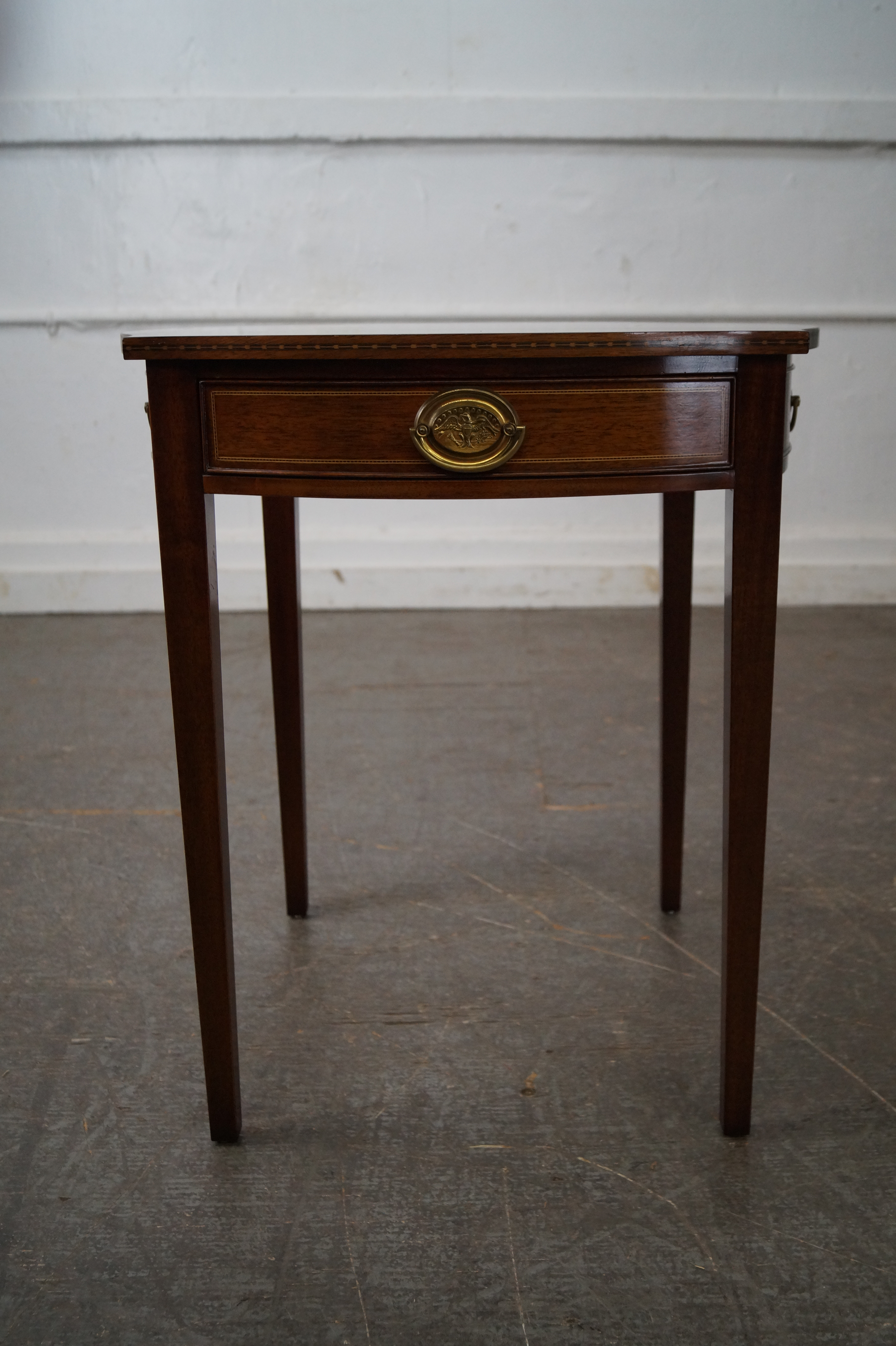 Kindel Winterthur Collection Mahogany Inlaid Hepplewhite Style Occasional  Table (B)   Image 2 Of