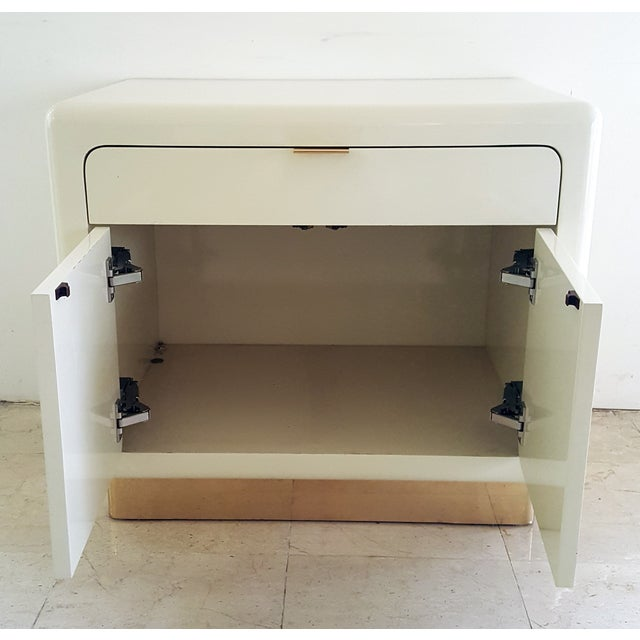 1970's Lacquered & Brass Plinth Side Cabinet - Image 5 of 6