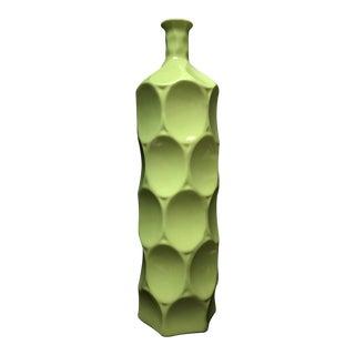 Mid-Century Chartreuse Green Bottle Vase