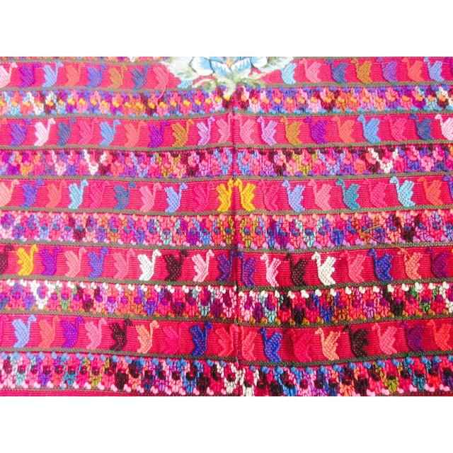 Guatemalan Fabric Boho Beach Textile - Image 8 of 10