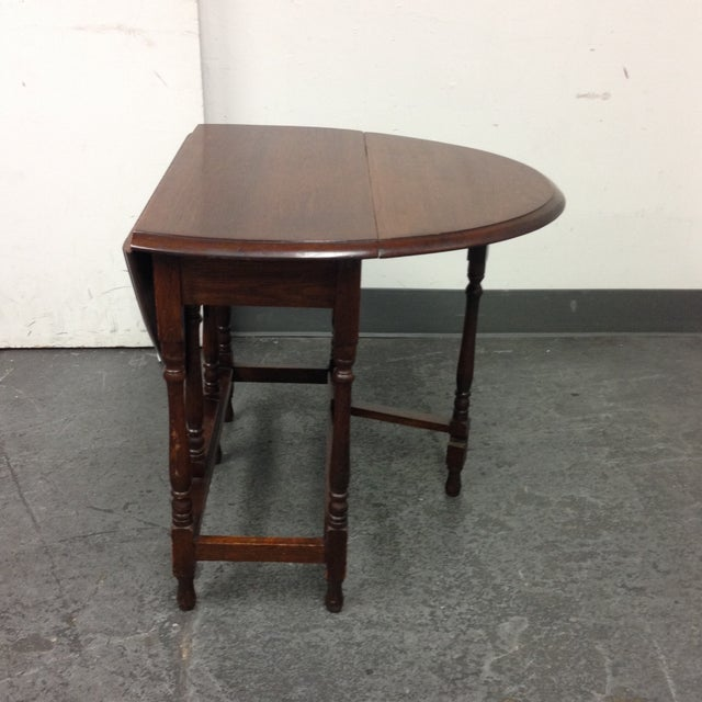 Vintage Convertible Occasional Table - Image 5 of 10