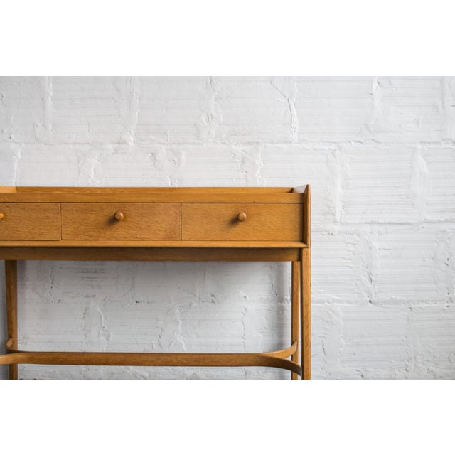 Heals Three Drawer Oak Vanity Desk - Image 4 of 8