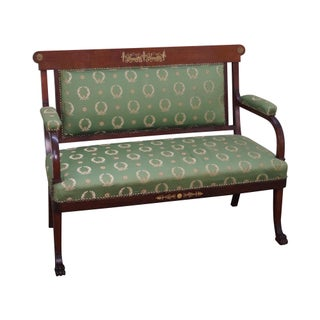 Antique Empire Mahogany Canape Settee