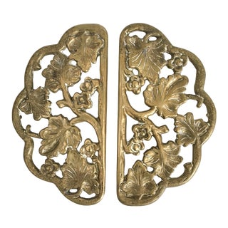 1930s Virginia Metalcrafters Ivy Vine Trivets - A Pair