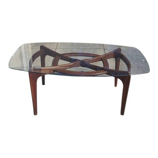 Teak and Glass Dining Table by Adrian Pearsall