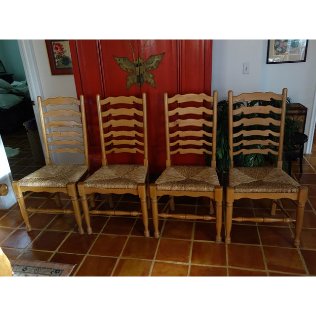 Ladderback Pine Chairs - Set of 4 - Image 2 of 8
