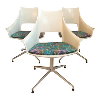 Daystrom Fiberglass Swivel Chairs - Set of 3
