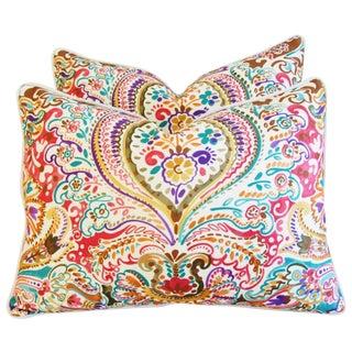 Custom Colorful Cotton & Linen Pillows - Pair