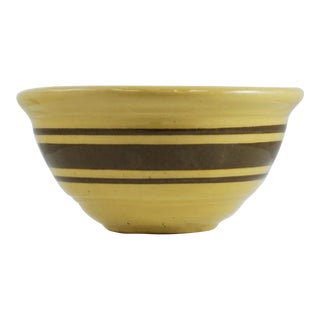 Antique Brown Striped Yelloware Bowl