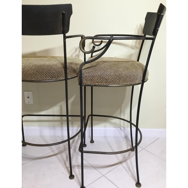 Wrought Iron Bar Stools - A Pair - Image 9 of 11