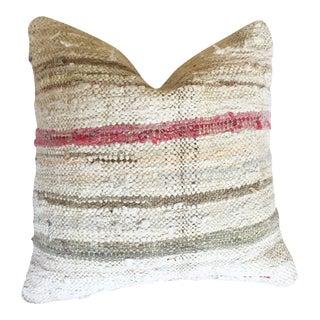 Blush Striped Moroccan Berber Kilim Pillow Cover