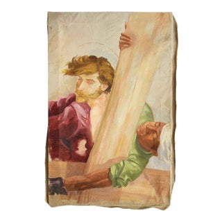 Two Men Vintage Canvas Painting
