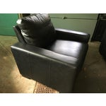 Image of Restoration Hardware Black Leather Maxwell Recliner