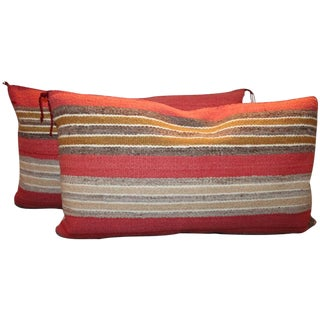 Navajo Indian Handwoven Saddle Blanket Pillows