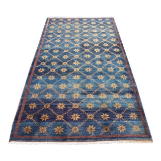 Vintage Turkish Oushak Rug - 4′ × 8′4″