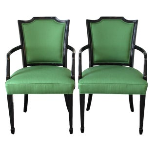 Upholstered Occasional Arm Chairs - A Pair