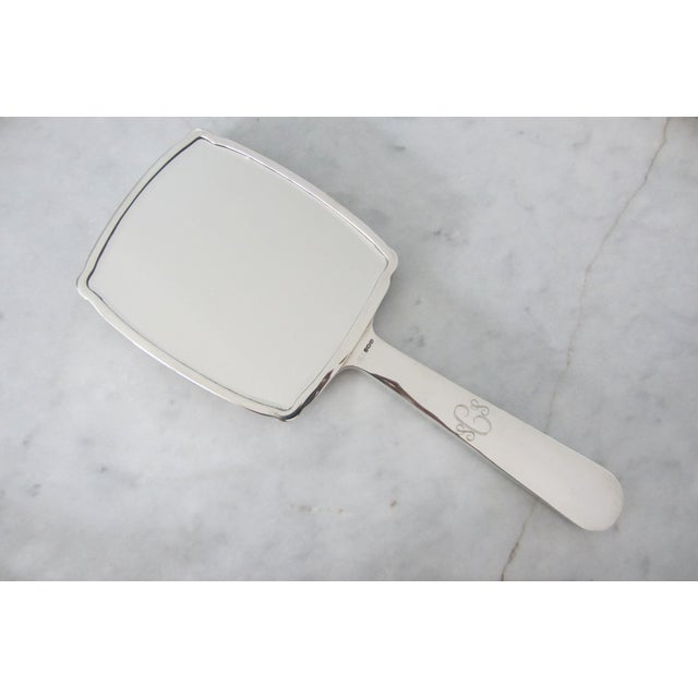 Jeweled Guilloché Sterling Silver Hand Mirror - Image 4 of 7