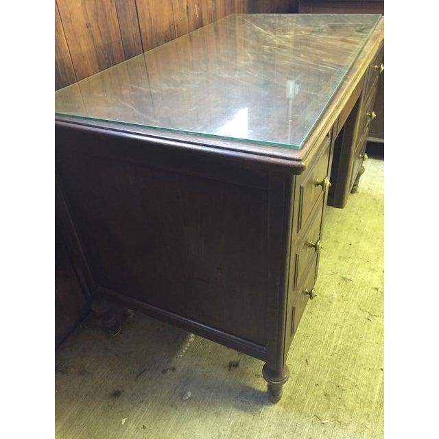 Antique Distressed Wooden Desk - Image 4 of 4