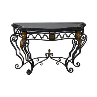 Maitland Smith Marble Top Regency Console Table