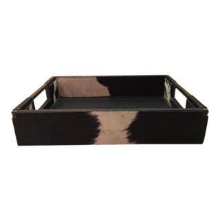 Cowhide & Leather Serving Tray