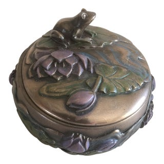 Art Nouveau Frog Trinket Box