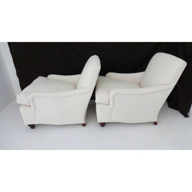 English Country House Style Club Chairs - A Pair - Image 2 of 6