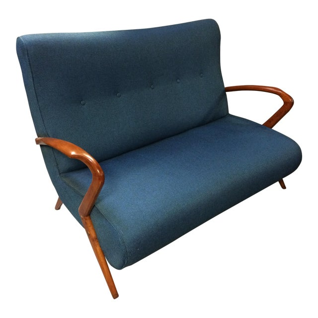 French Mid Century Modern Settee - Image 1 of 11