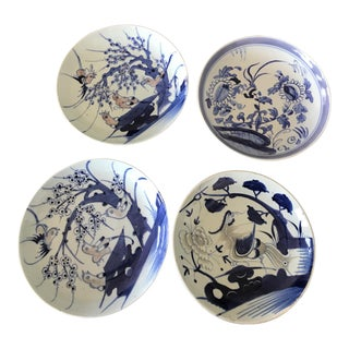 Blue & White Chinese Bowls - Set of 4