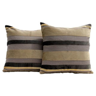 Gaston Y Daniela Velvet Stripe Pillow Covers - A Pair
