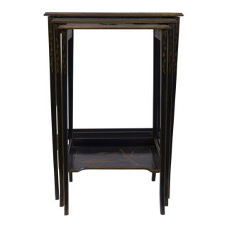 Antique Chinoiserie Nesting Tables - Set of 3