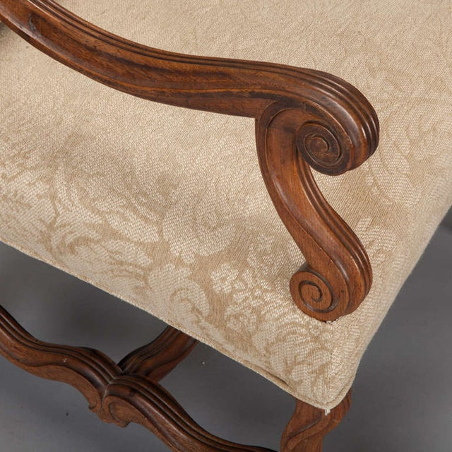 Antique Os Du Mouton Carved Armchairs - A Pair - Image 4 of 9