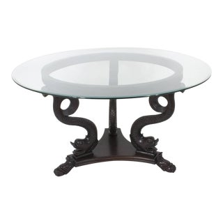 Neoclassical Style Dolphin Center or Dining Table