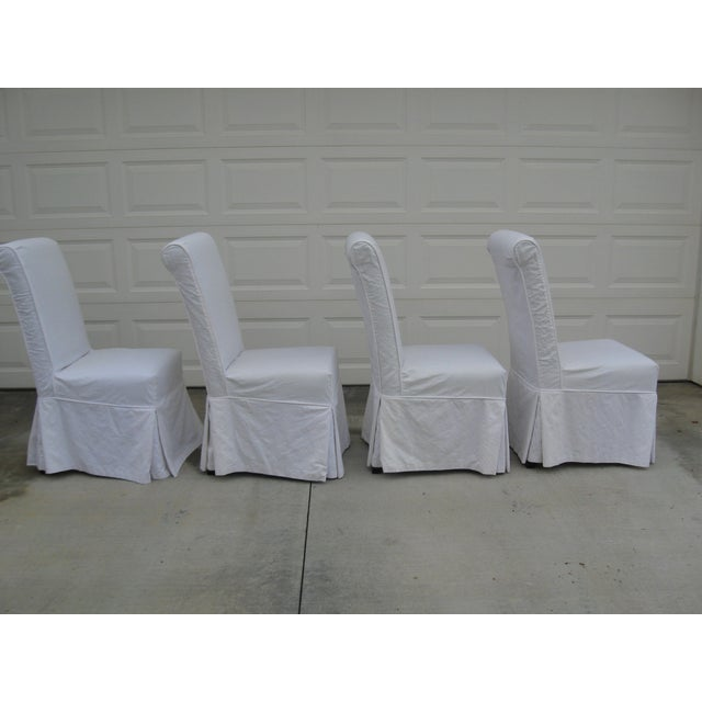 Image of Slipcovered Parsons Chairs - Set of Four