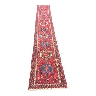 """Vintage Persian Karajeh Runner Rug - 1'10"""" x 12'5"""""""