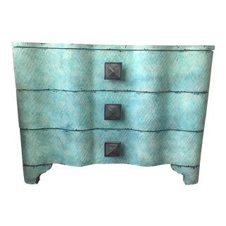 Hooker Furniture Melange Turquoise Crackle Chest