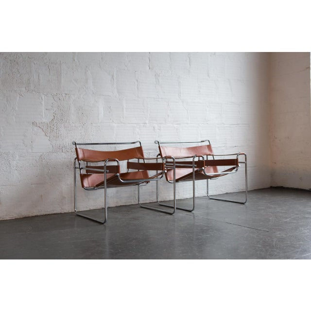 Image of Wassily Marcel Breuer for Knoll Chairs - a Pair